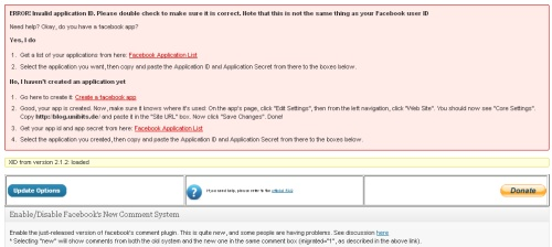 Facebook Comments Error