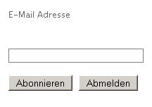 Newsletter - anmelden - abmelden